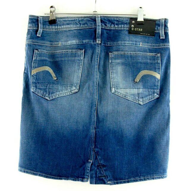 Back of G Star Denim Skirt