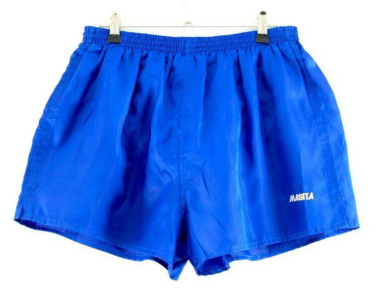 Blue Satin Masita Shorts