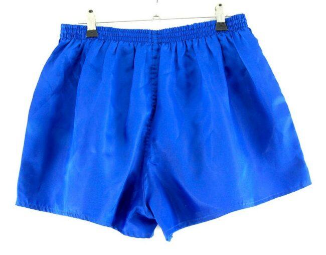 Back of Blue Satin Masita Shorts