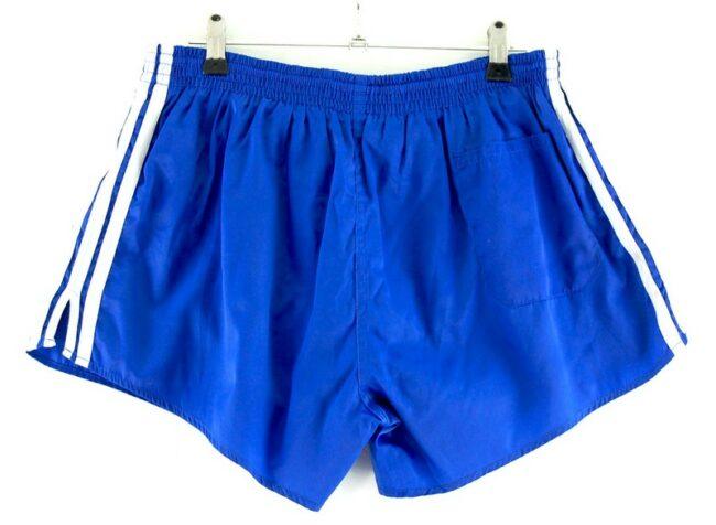 Back of Adidas Blue Stripe Shorts