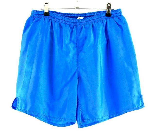 Light Blue Striped Shorts