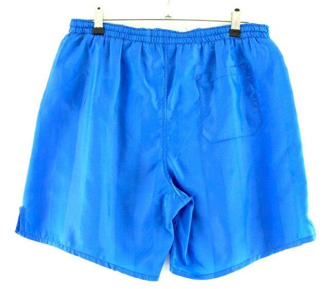 Back of Light Blue Striped Shorts