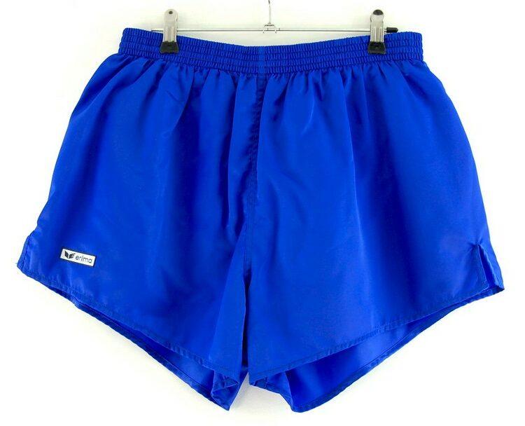 Blue Satin Erima Shorts