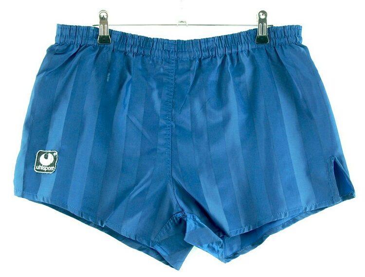 Mens Blue Striped Uhlsport Shorts