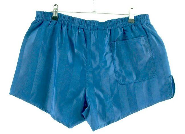 Back of Mens Blue Striped Uhlsport Shorts