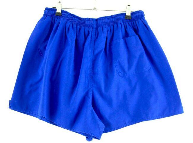 Back of Mens Blue Stretch Shorts