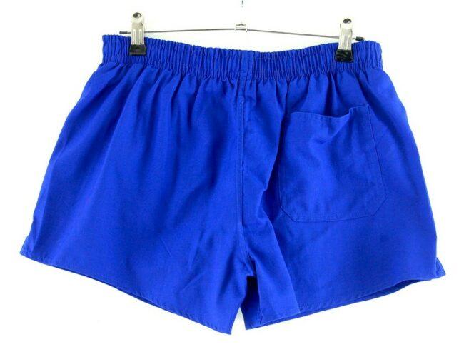 Back of Blue Running Shorts