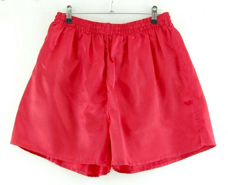 Mens Red Satin Active Shorts
