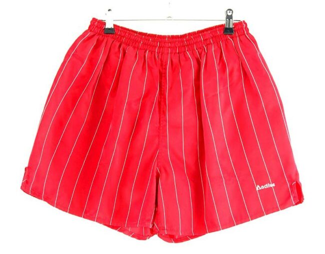 Red Striped Active Shorts