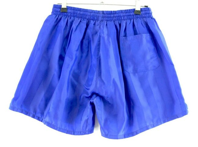 Back of Rodeo Blue Satin Shorts