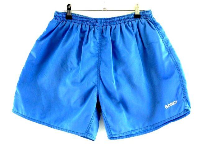 Blue Nylon Robey Shorts