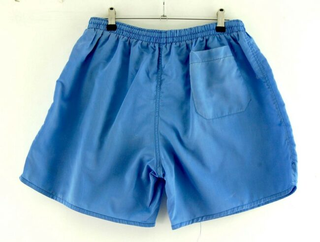 Back of Blue Nylon Robey Shorts