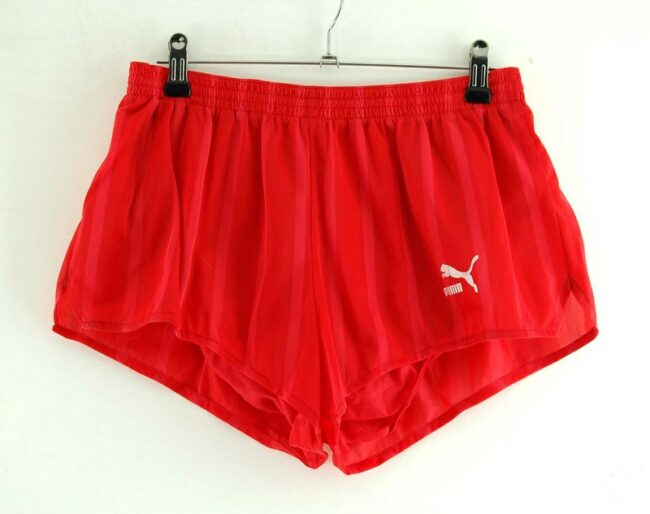 Red Puma Running Shorts