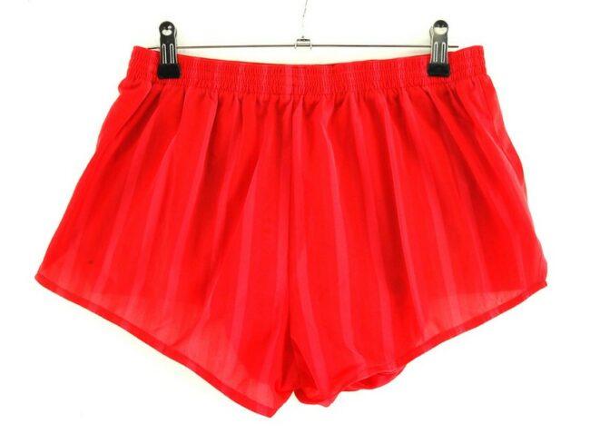 Back of Red Puma Running Shorts