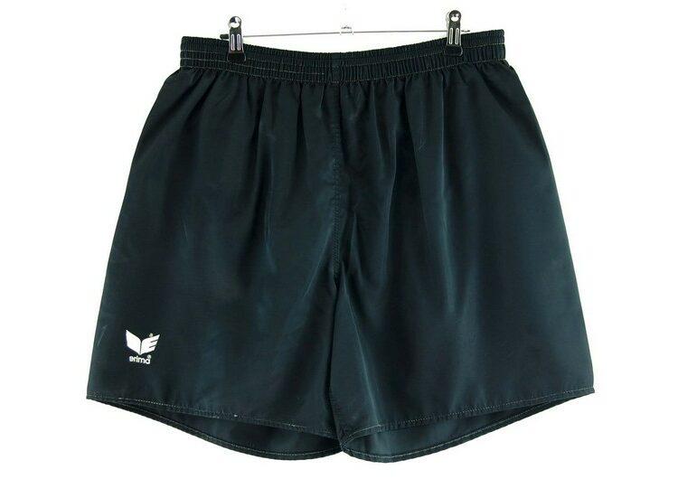 Black Satin Erima Shorts