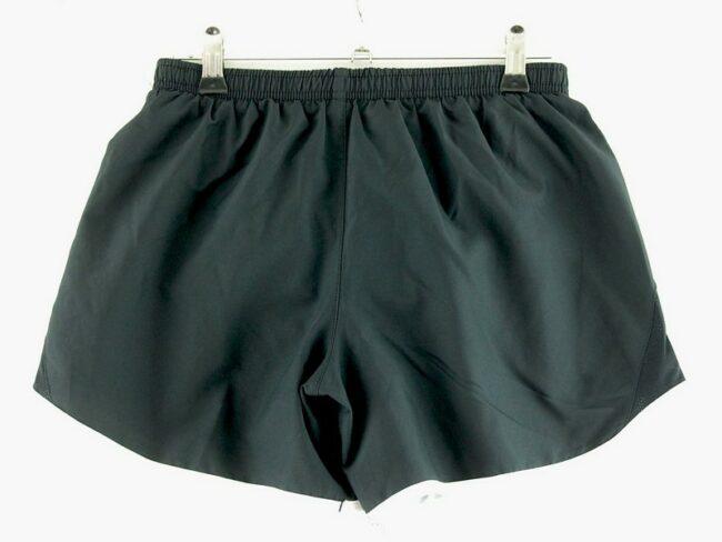 Back of Nike Satin Shorts Black