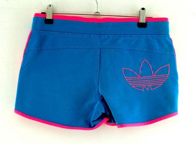 Back of Pink Adidas Trefoil Shorts