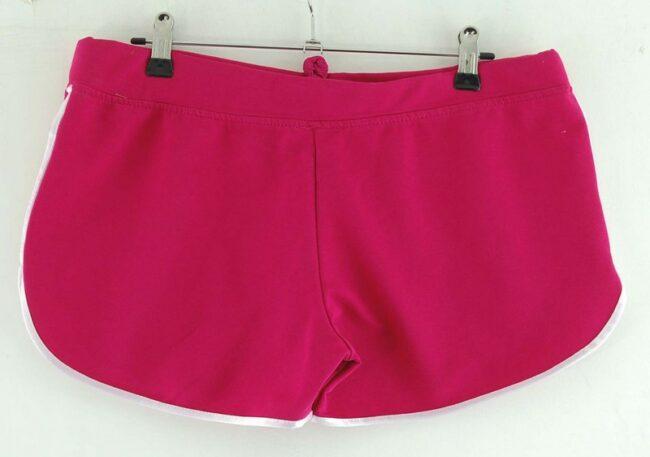 Back of Pink Adidas Cotton Shorts Womens