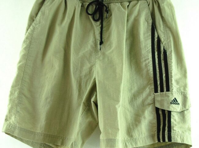 Close up of Mens Beige Adidas Shorts
