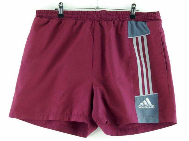 Burgundy Adidas Stripes Shorts