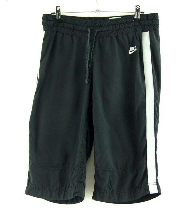 Black Nike Shorts With White Stripe