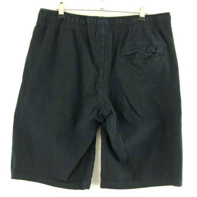 Back of Nike Black Cotton Shorts