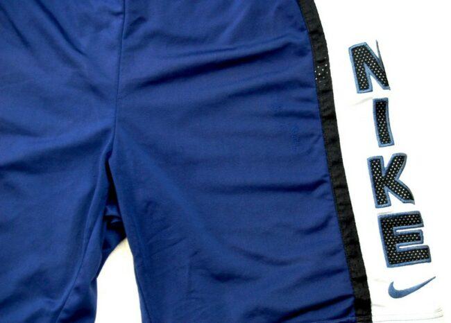 Close up of Blue Nike Shorts Mens