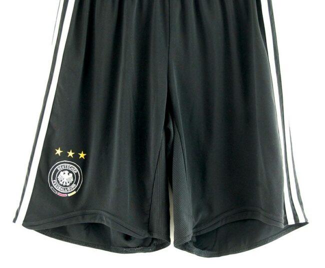 Close up of of German Football Association Black Adidas Shorts