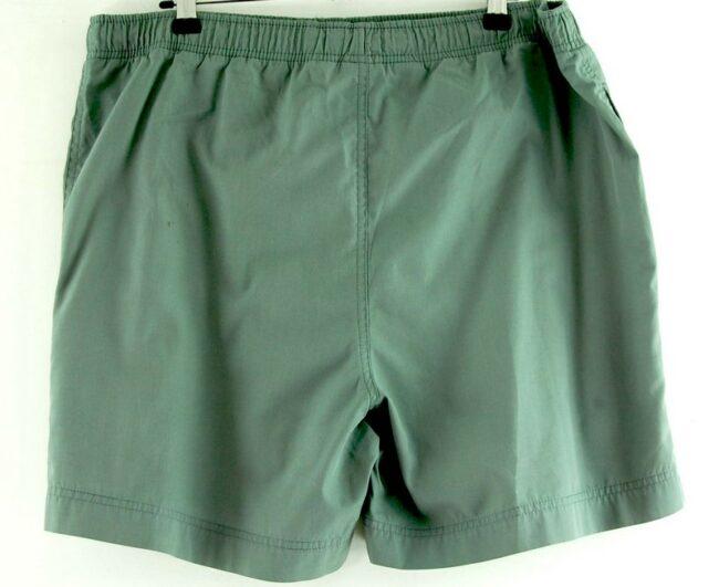 Back of Nike Grey Cotton Shorts