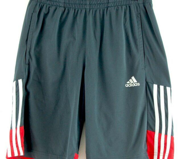 Close up of Adidas Black Climalite Shorts