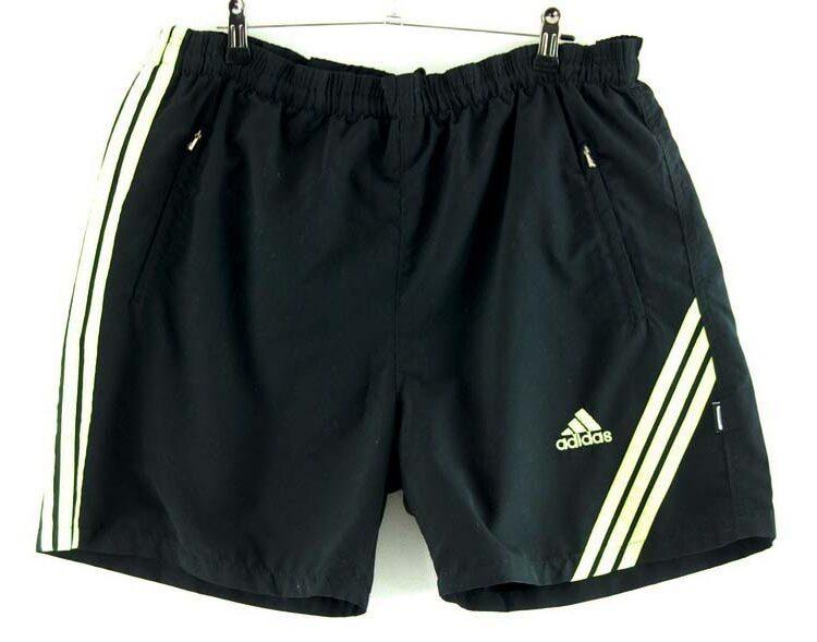 Adidas Black Shorts With Yellow Stripes