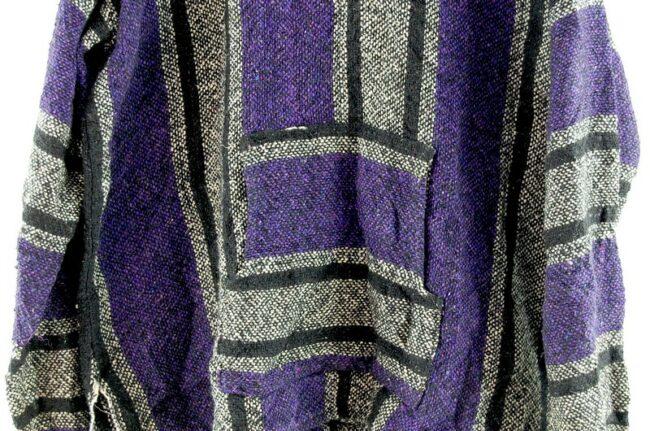 Close up of Purple Baja Hoodie