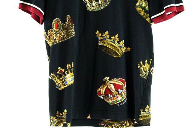 Close up of Black Crown Dolce Gabbana Tee