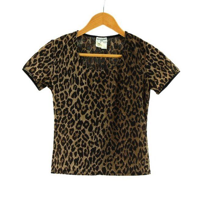 Dolce And Gabbana Animal Print Top