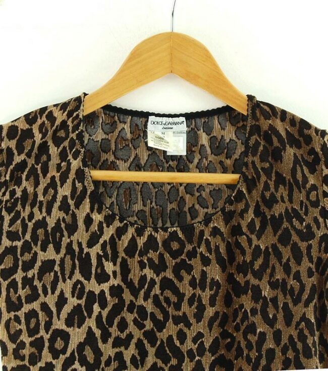 Close up of Dolce And Gabbana Animal Print Top