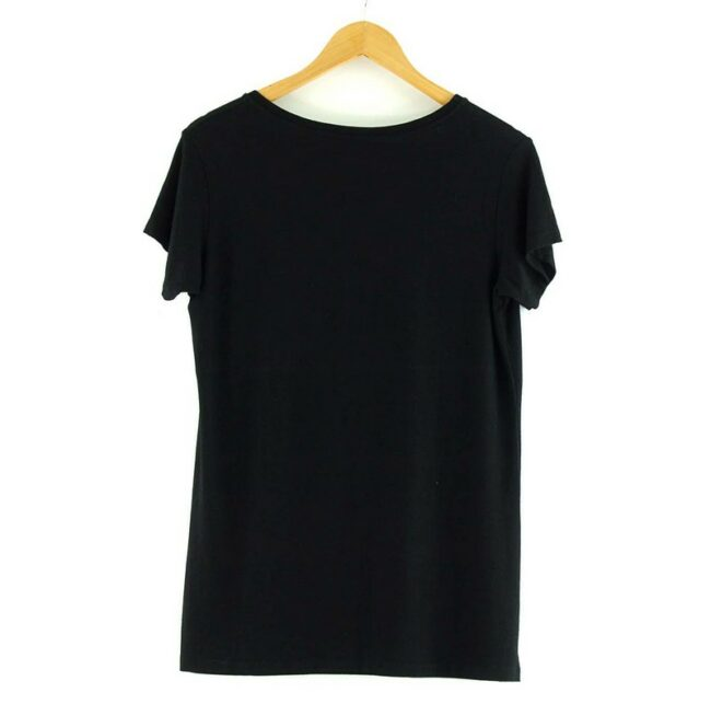 Back of Black Chanel Logo T Shirt