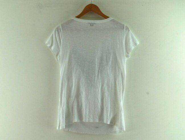 Back of White Beaded Liu Jo T Shirt