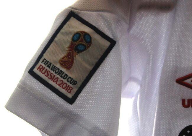 Close up of Vintage Umbro Football Shirt