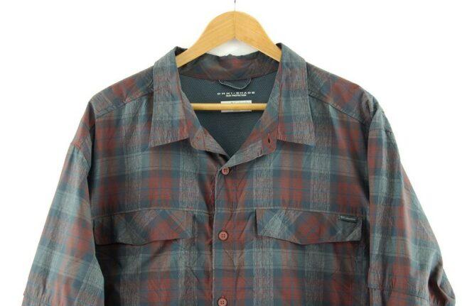 Close up of Columbia Omni Shade Shirt