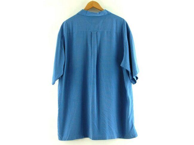 Back of Blue Short Sleeve Columbia GRT Shirt