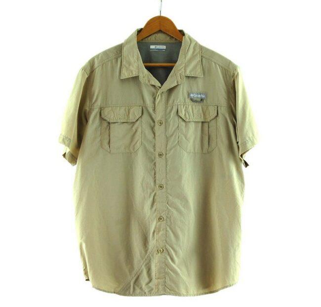 Beige Columbia Short Sleeve Shirt