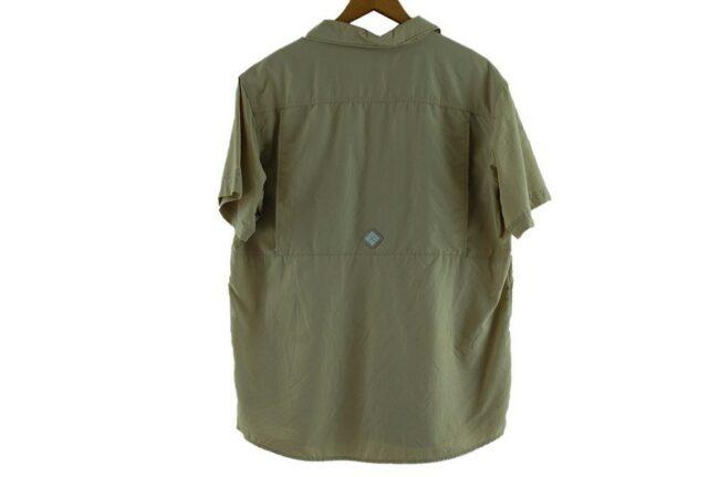 Back of Beige Columbia Short Sleeve Shirt