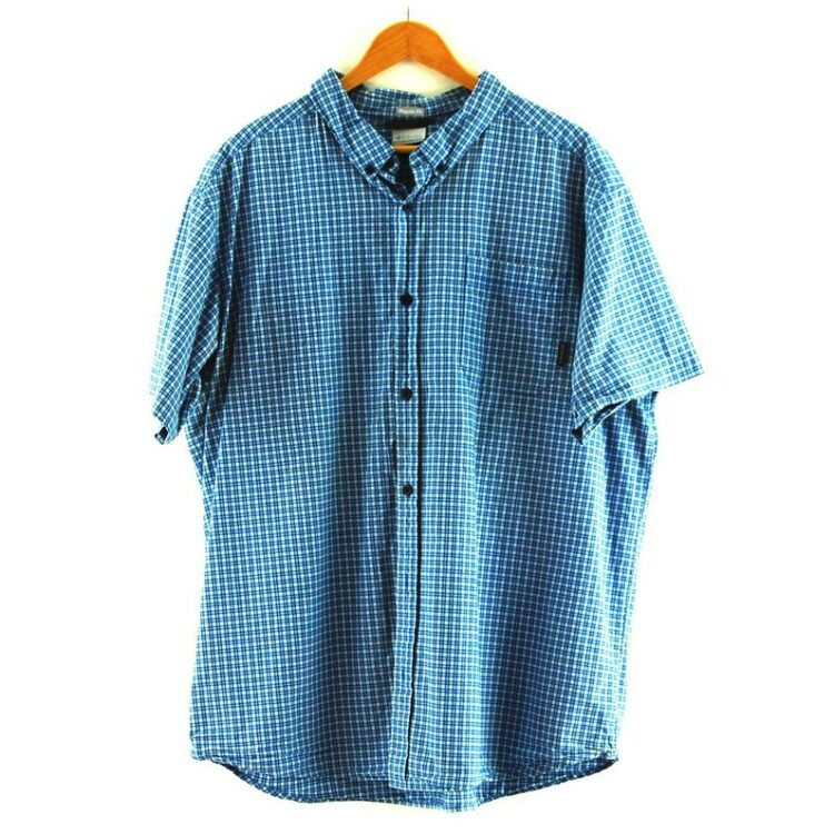 Blue Short Sleeve Columbia Checked Shirt
