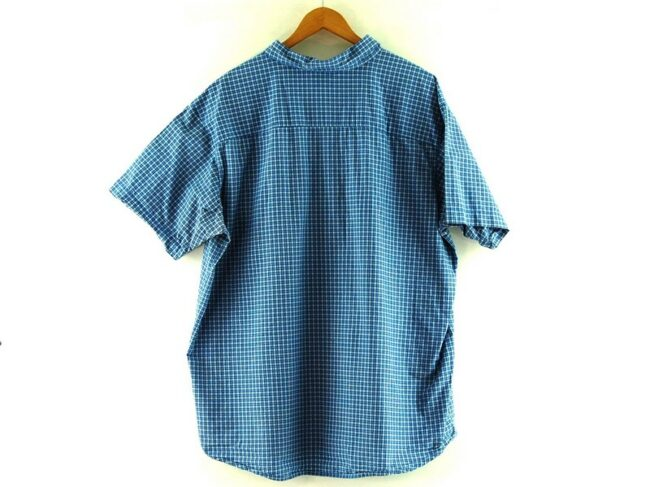 Back of Blue Short Sleeve Columbia Checked Shirt