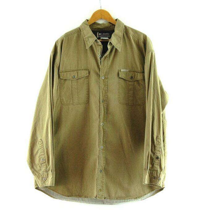 Brown Long Sleeve Columbia Shirt