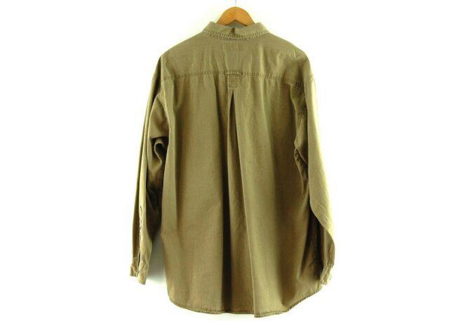 Back of Brown Long Sleeve Columbia Shirt