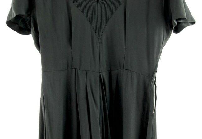Black 40s Rayon Dress