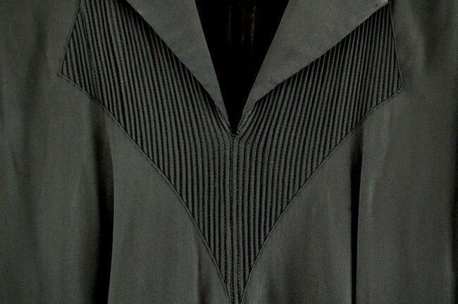Detail of Black 40s Rayon Dress