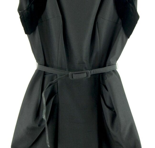 Close up Watered Silk Black 50s Cocktail Dress With Diamante