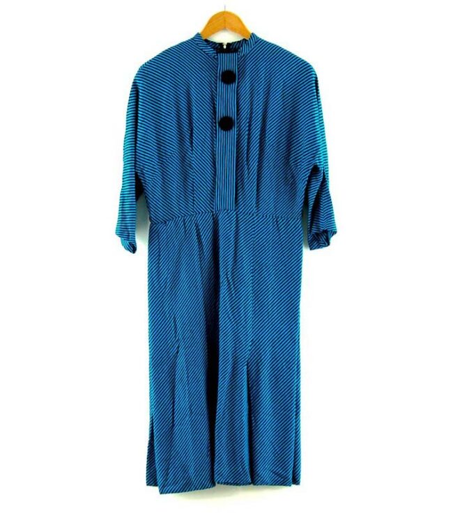 Blue 50s Candy Stripe Dress